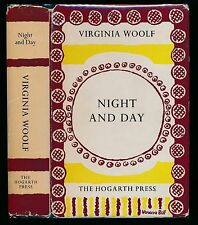 NIGHT AND DAY by Virginia Woolf (VG+/VG), 1966 DJ art by Vanessa Bell