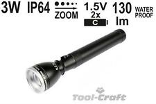 Yato professional torch with high power CREE 3W diode, zoom, 228 mm  (YT-08577)