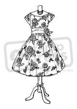 A7 '1950s Dress' Unmounted Rubber Stamp (SP001270)