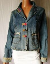 OLD STORY GIRL GIACCA Jeans JACKET TG.L in COTONE 100% Rifiniture particolari