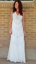 NWT~Ranna Gill~BLDHN Beaded Column Wedding Gown~Ivory~6~$1400 *SOLD OUT ONLINE*
