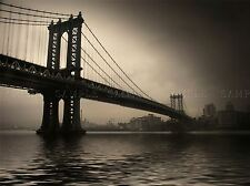 NYC BRIDGE NEW YORK SEPIA PHOTO ART PRINT POSTER PICTURE BMP903A