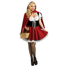 Plus size Little Red Riding Hood Fancy Dress up Fairytale Halloween Costume