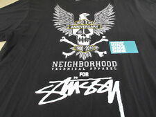 NEIGHBORHOOD x STUSSY 30TH ANNIVERSARY TEE SHIRT BLACK XXX JAPAN NBHD JP XL
