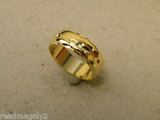 Men's Lady's Yellow Gold Plated Wedding Ring Band Size 10 New 7mm Wide Smooth
