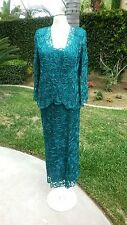 Soulmates style C710 Size M Teal Special Occasion-Mother of the Bride