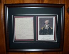 George Washington 1776 Revolutionary War Signed Letter Framed