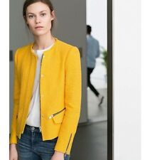 RARE! NWT ZARA Yellow Tweed Blazer/Jacket Size XS Retail Price $129.90