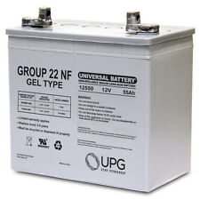 UPG 12V 55AH (Group 22NF) GEL Battery for Invacare Pronto M94, M91 Wheelchair