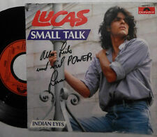 "LUCAS SMALL TALK / INDIAN EYES 7 "" SINGLE MIT AUTOGRAMM SIGNED"