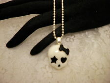 Handmade GOTH SKULL Resin Cabochon Pendant Necklace/Jewelry/Women/Fashion/Men