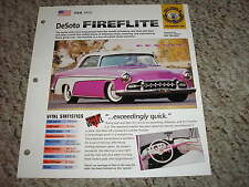 USA 1955 DeSoto Fireflite Hot Cars Group 8 # 48 Spec Sheet Brochure