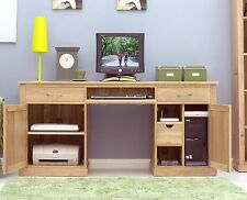 Mobel solid oak furniture large hideaway office computer desk felt pads