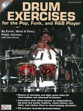 Ralph Johnson Earth, Wind & Fire Play Drums Pop Funk R&B Music Book & CD