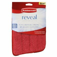 NEW Rubbermaid Reveal Mop Microfiber Cleaning Pad Red 2 Pack FREE SHIPPING