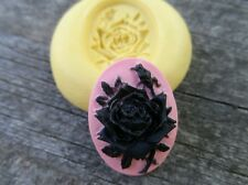 Rose Flower SILICONE mold Cameo Cabochon polymer clay resin food grade USA