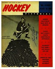 "Gordie Howe ""Mr Elbows"" with milestone 545th puck on cover of Hockey Magazine"