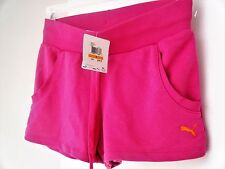 Very Berry Pink PUMA Apparel Women's Sweat Short II SMALL French Terry Pockets