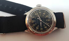 VINTAGE LONGINES WITTNAUER MILITARY BLACK DIAL AUTOMATIC MAN'S WATCH
