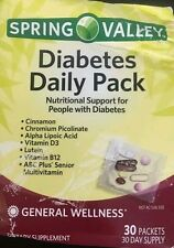 Spring Valley Diabetic Daily Pack 30 Days Multivitamin