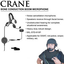 Earphone Connection CRANE Bone Conduction Mic for Kenwood NX TK (See List)