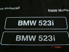 BMW 523i Number Plate for Show only x 2 pcs.  ( Other Models in Stock )