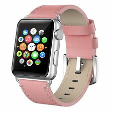 Apple Watch Band 38mm Leather iWatch Bands Strap Replacement Wristband Pink New