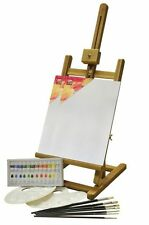 Solid Wood and Adjustable Bizili Acrylic Painting Box and Easel Set - 24 Pieces