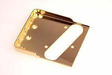 "Tele® Staggered Bridge Satin Gold 0.48"" CR Steel -Made in USA- B.Y.O.B Project"