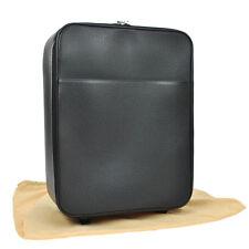 AUTH LOUIS VUITTON PEGASE 45 TRAVEL CARRY HAND BAG BLACK TAIGA M32670 NR06523