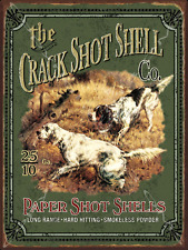 Crack shot Shells Metal Sign, Country Getaway, Hunting, Cabin Decor, Dogs