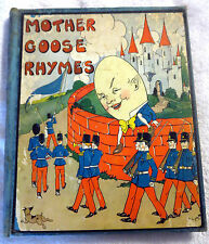 1932 Mother Goose Rhymes Illustrated Hardcover Book