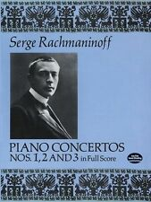 Serge Rachmaninoff Piano Concertos Nos 1 2 3 in Full Score Play PIANO Music Book