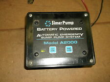Simer Pump Battery Powered Auto Emergency Sump Pump System Model A2000