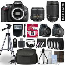 Nikon D5200 SLR Camera 4 Lens Kit 18-55 + 70-300mm + 64GB Accessory Bundle