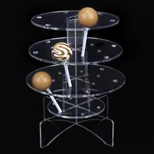 Acrylic 3-Tiers Cake Pop Lollipop Cupcake Display Stand Holder Tower 18 Holes