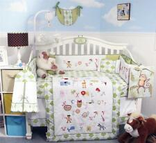 SoHo A-Z Alphabet Baby Crib Nursery Bedding Set 13 pcs included Diaper Bag