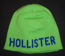 MENS HOLLISTER GREEN BEANIE ONE SIZE