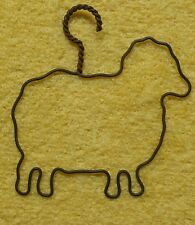 Vintage Twisted Wire Hanger Metal Antique Shapes Decorative Wall Shelf Sheep VGC