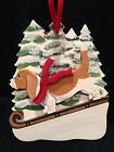 Basset Hound R/W Dog Wooden Ornament Made in USA New