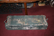 Antique Vintage Military Wood Ammunition Explosive Box-EMPTY-Country Seed Box