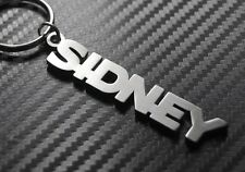 SIDNEY nom personnalisé Porte-clé porte-clé Sur-mesure Acier Inoxydable Cadeau