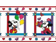DISNEY MICKEY MOUSE IN FRAMES BALLOON KIDS ROOM DECOR WALLPAPER BORDER 3748000