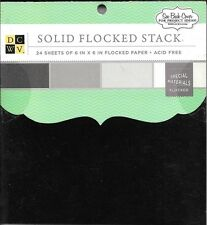 6 x 6 Paper Pad ~  Solid Flocked Stack ~ DCWV ~ 24 sheets ~ NEW(#2071)