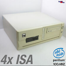 4x ISA & PCI SLOT COMPUTER PC MIT CPU INTEL PENTIUM 1 I 100MHZ WINDOWS 95 98 DOS