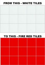 """6 Inch x 6 Inch Tile Stickers, Transfers 6"""" (150mm x 150mm) For Kitchen Bathroom"""
