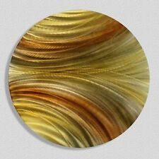 Golden Round Abstract Metal Wall Art Accent - Contemporary Decor by Jon Allen