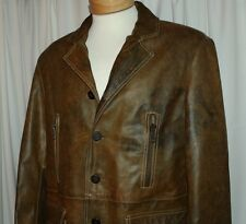 "LOT 78 FODERA ""MADE IN ITALY"":  Rustic Brown Brass Men Leather Jacket"