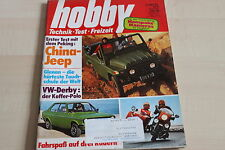 152601) VW Derby - China Jeep Peking BJ 212 - Hobby 06/1977