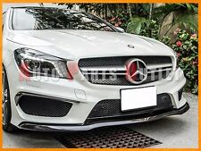 Carbon Fiber Front Lip Add-on Cover Fit For 14-16 Mercedes-Benz CLA45 Only